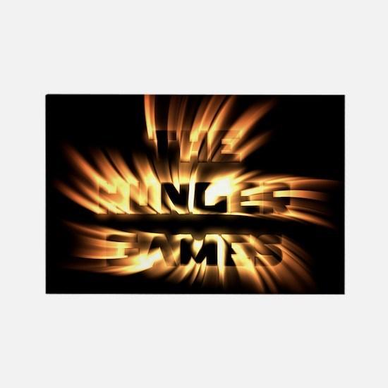Burning Hunger Games Rectangle Magnet