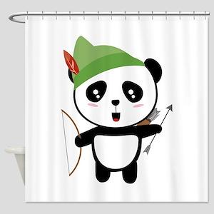 Panda forest Archer Shower Curtain