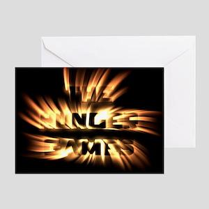 Burning Hunger Games Greeting Cards
