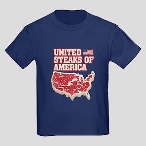 United Steaks of America Kids Dark T-Shirt