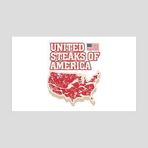 United Steaks of America 35x21 Wall Decal
