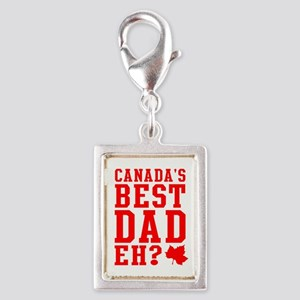 Best Dad Silver Portrait Charm