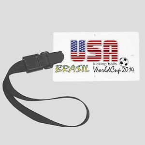 USA Kicking Balls  Large Luggage Tag