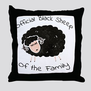 Official Black Throw Pillow