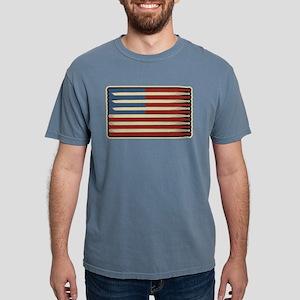 Retro Drummer Drumstick Flag T-Shirt