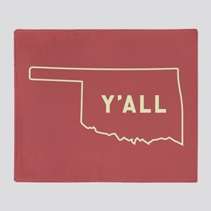 Oklahoma Y'All Throw Blanket
