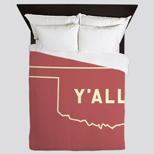 Oklahoma Y'All Queen Duvet