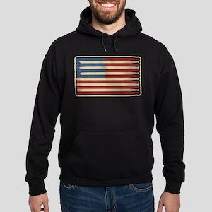 Retro Drummer Drumstick Flag Sweatshirt
