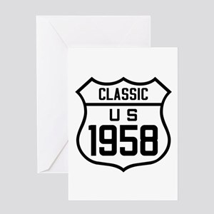 Classic US 1958 Greeting Cards