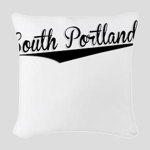South Portland, Retro, Woven Throw Pillow