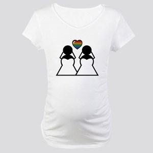 Silhouette Bride and Bride Maternity T-Shirt