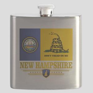 New Hampshire Gadsden Flag Flask