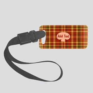 Pizza Plaid Mushroom Small Luggage Tag