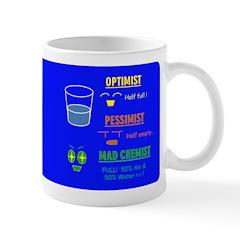 Mug - Optimist, Pessimist Mad Chemist Mugs