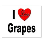 I Love Grapes Small Poster