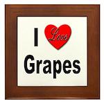 I Love Grapes Framed Tile