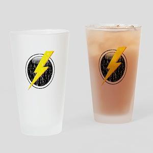 Lightning Bolt Distressed Drinking Glass