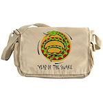 Yr of Snake b Messenger Bag