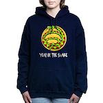 Yr of Snake b Women's Hooded Sweatshirt