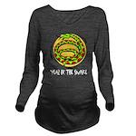 Yr of Snake b Long Sleeve Maternity T-Shirt