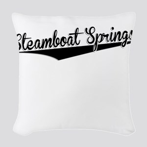 Steamboat Springs, Retro, Woven Throw Pillow