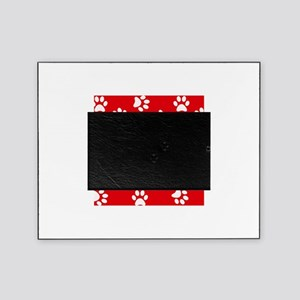 Red Paw print pattern Picture Frame