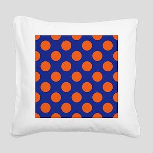 Gator Polkadots Square Canvas Pillow