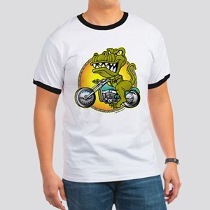 T-Rex Cycles @ eShirtLabs Ringer T