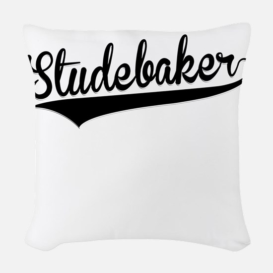 Studebaker, Retro, Woven Throw Pillow