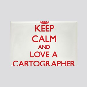 Keep Calm and Love a Cartographer Magnets