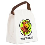 Yr of Monkey b Canvas Lunch Bag