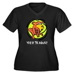 Yr of Monkey b Plus Size T-Shirt