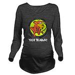 Yr of Monkey b Long Sleeve Maternity T-Shirt