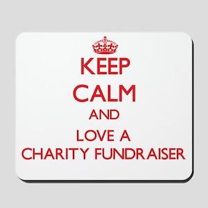 Keep Calm and Love a Charity Fundraiser Mousepad