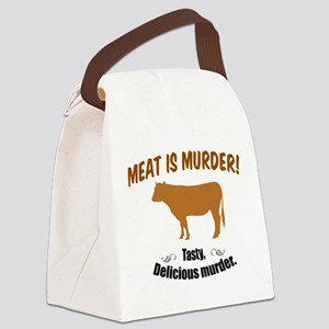 Meat is Murder! Canvas Lunch Bag