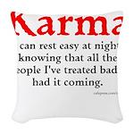 Karma Woven Throw Pillow