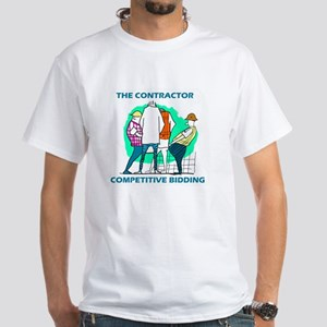 The Contractor Competitive Bidding White T-Shirt
