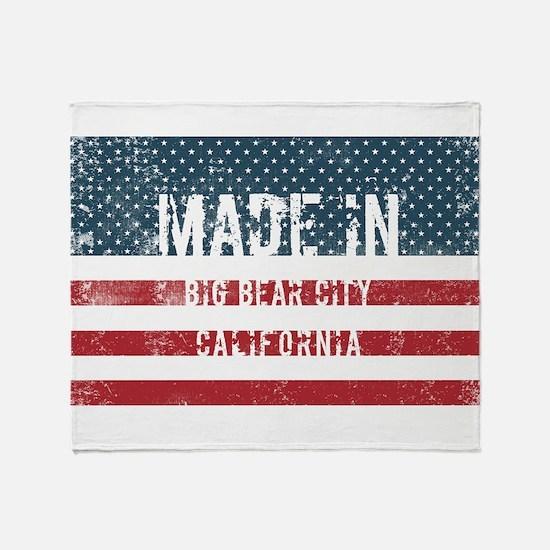 Made in Big Bear City, California Throw Blanket