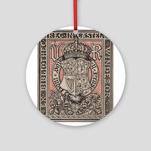 Queen Victoria Bookplate Ornament (Round)