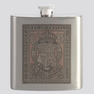 Queen Victoria Bookplate Flask