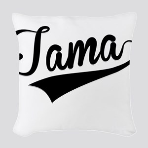 Tama, Retro, Woven Throw Pillow