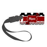 Red and black monogrammed Small