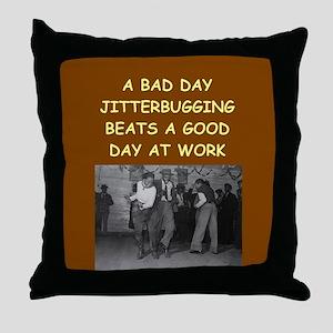 JITTER2 Throw Pillow