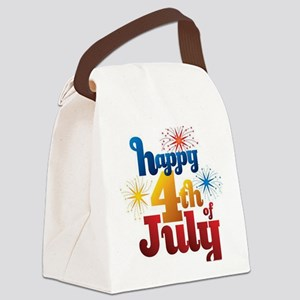 happy july 4th 2 Canvas Lunch Bag