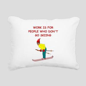 SKI4 Rectangular Canvas Pillow