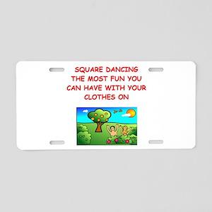 SQUARE Aluminum License Plate