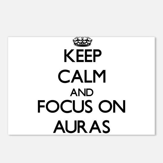 Keep Calm And Focus On Auras Postcards (Package of