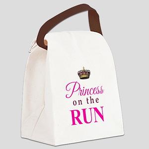 Princess on the Run Canvas Lunch Bag