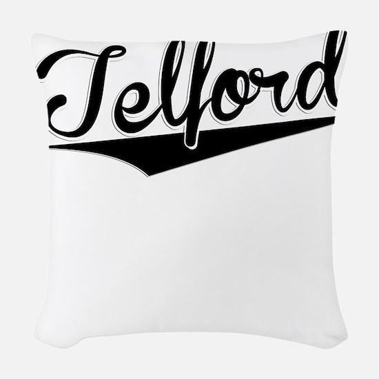 Telford, Retro, Woven Throw Pillow
