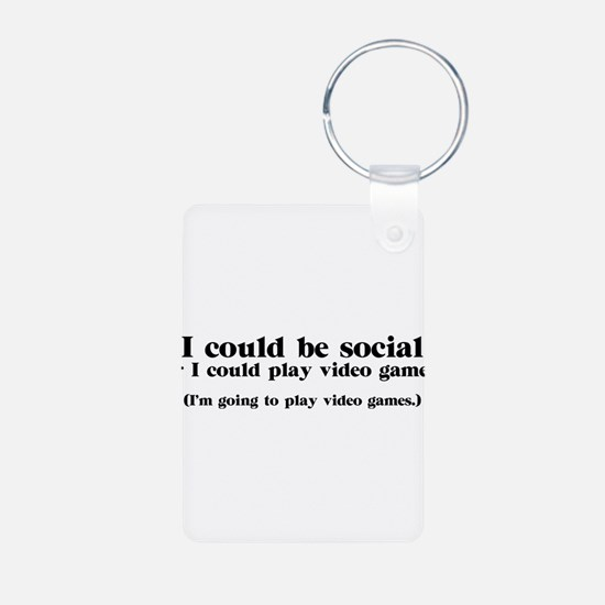 I Could be Social Keychains